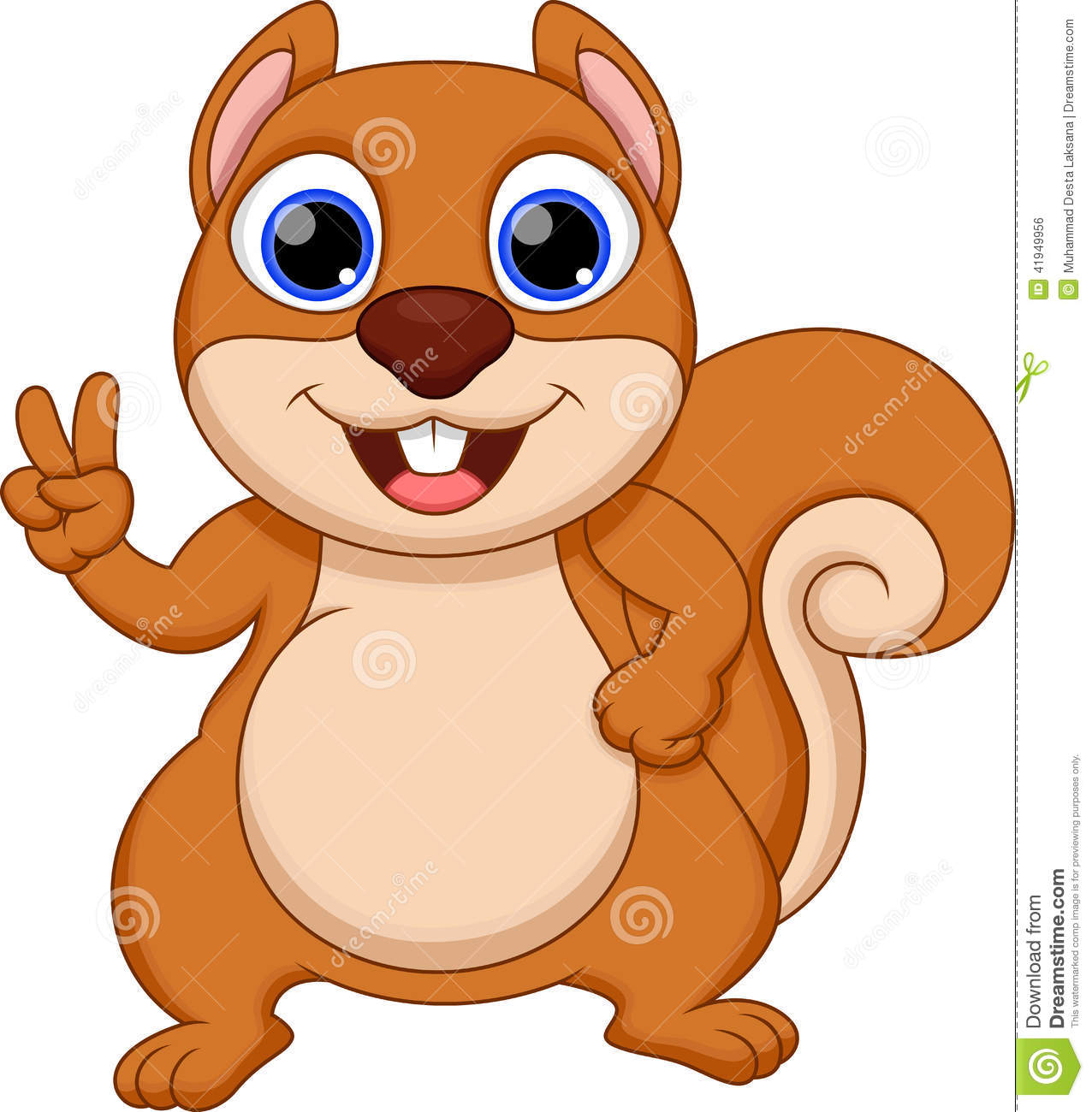 clip art cartoon squirrel - photo #50
