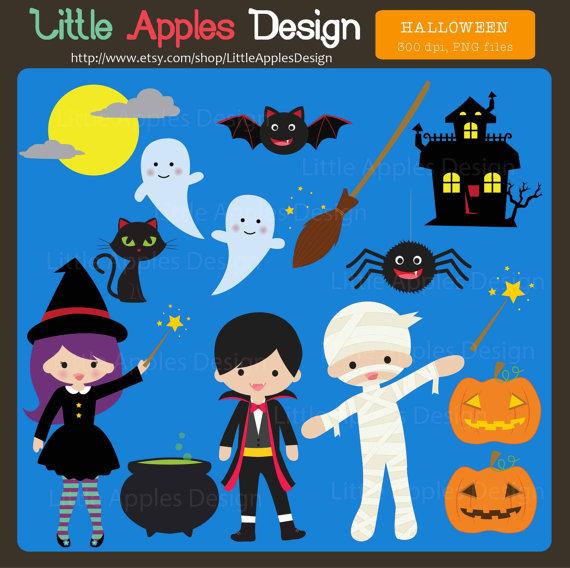Halloween Clip Art / Halloween Clipart / Cute Halloween.