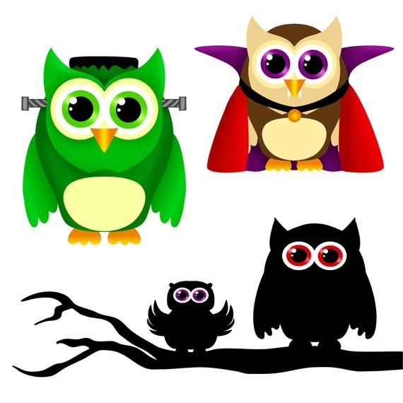 Cute Pigram Owl Clipart.