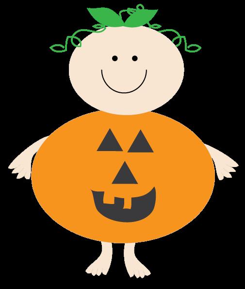 Halloween Clipart Cute 2 Baby Pumpkin.