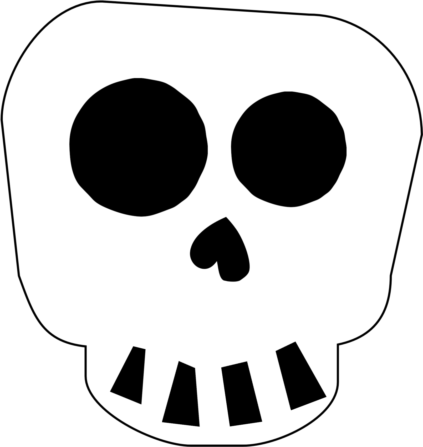 Free Printable Halloween Skull Decoration Banner.