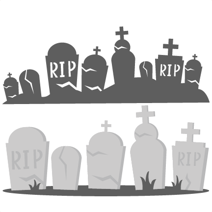 Tombstones SVG cutting files graveyard svg cut files halloween svg.