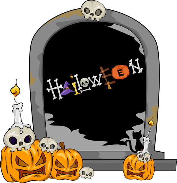 Halloween Tombstone Clipart.