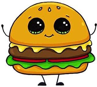 Hamburger clipart kawaii, Hamburger kawaii Transparent FREE.