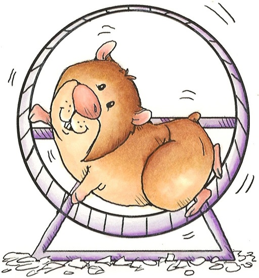 Cute hamster clipart.