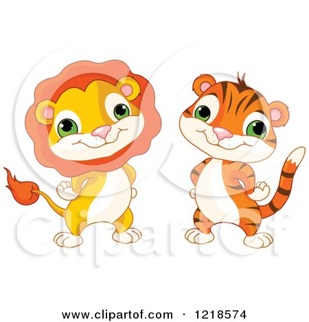lion and tiger clipart #10