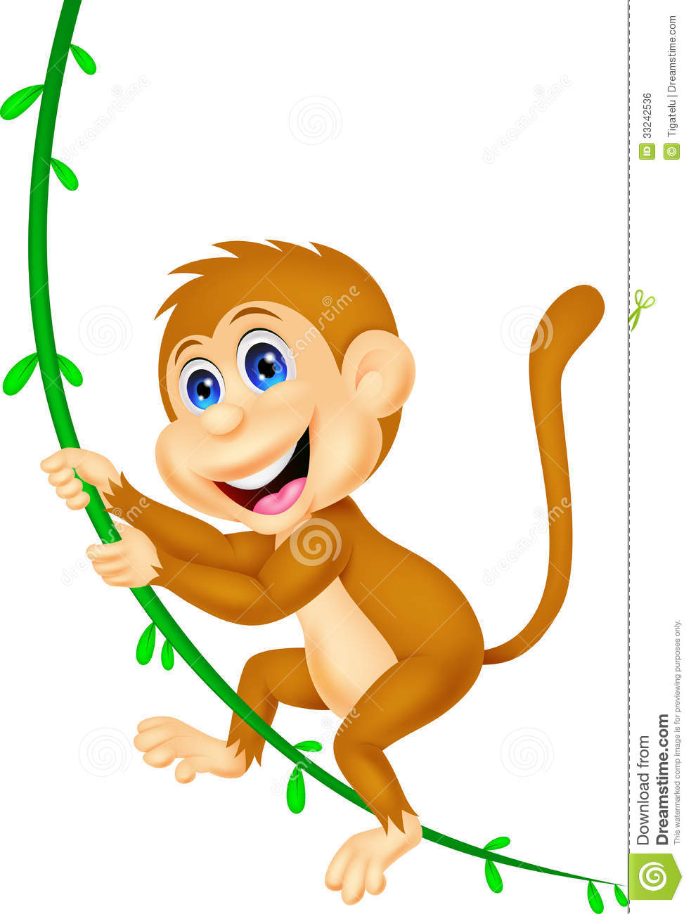 Hanging Monkey Clip Art.