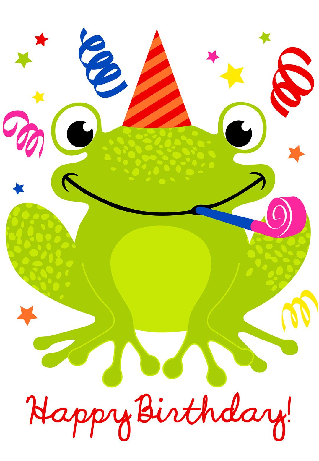 Free Printable A Happy Hopping Birthday Greeting Card.