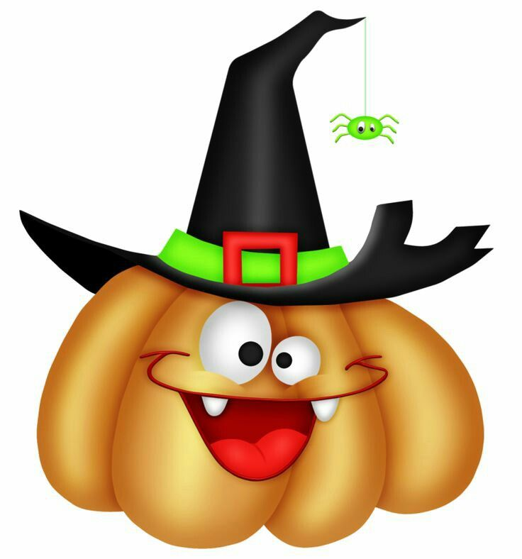 cute happy halloween clipart color