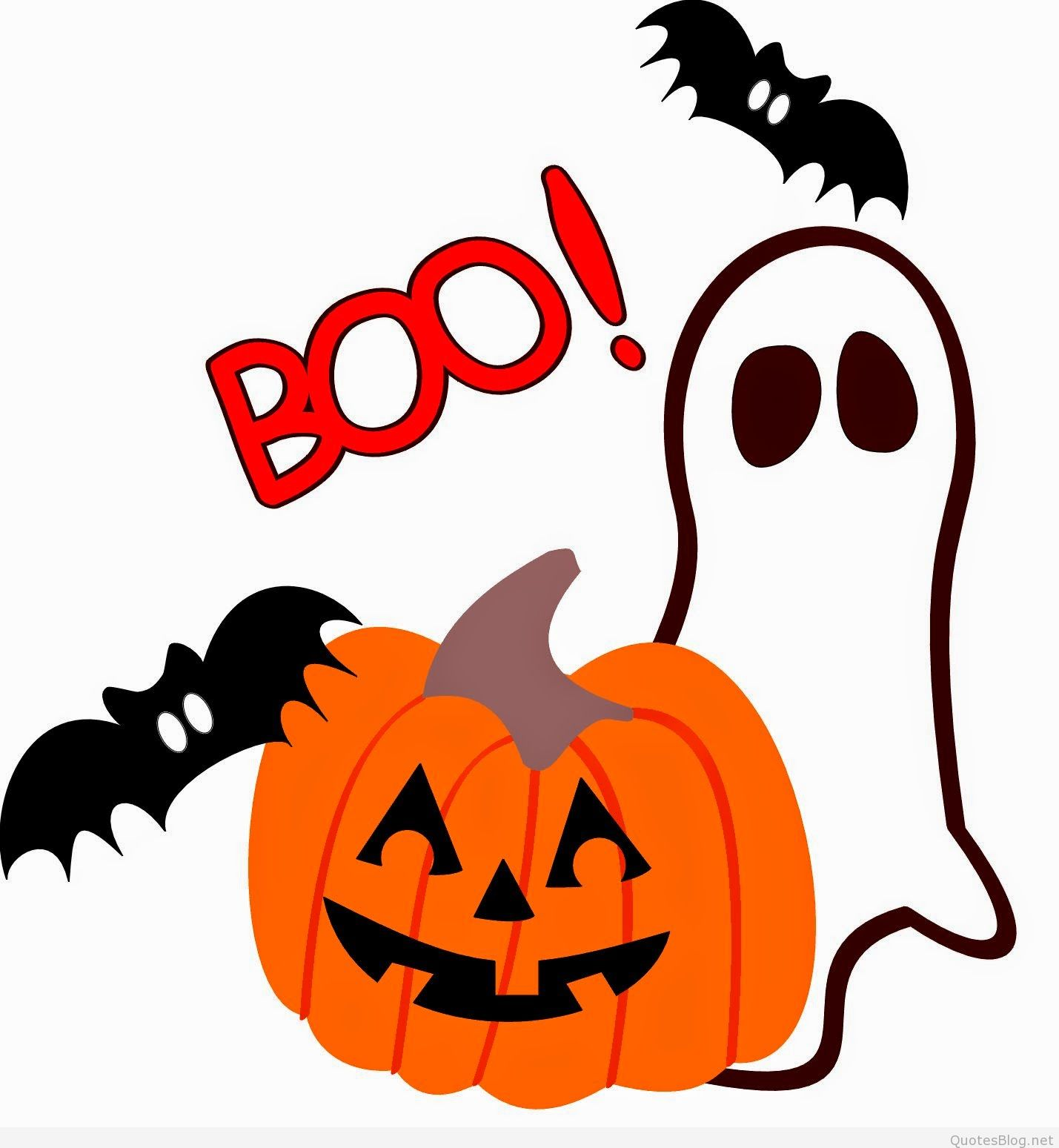 Funny Cute Happy Halloween Wishes Cartoons for kids.