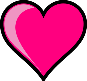 Cute Pink Heart Clipart.