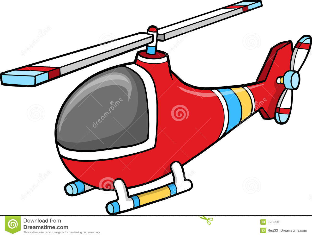 Cute Helicopter Clipart.
