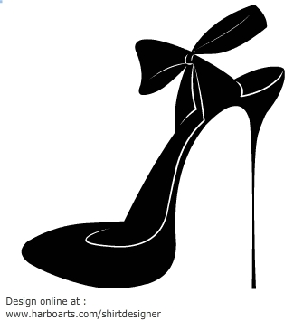 High heel shoe icon vector file clipart.