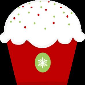Cute Christmas Cupcake Clipart.