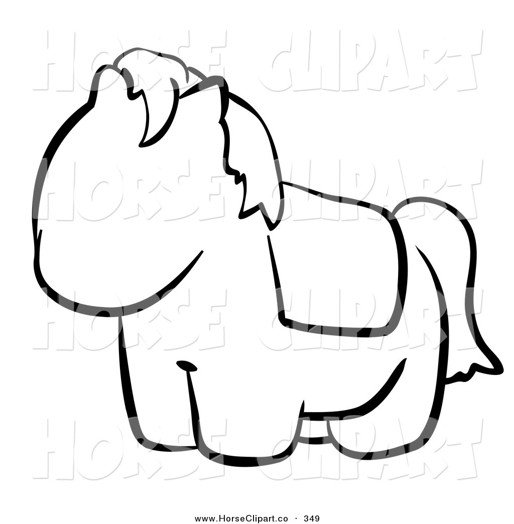 Cute Horse Clipart Black And White.