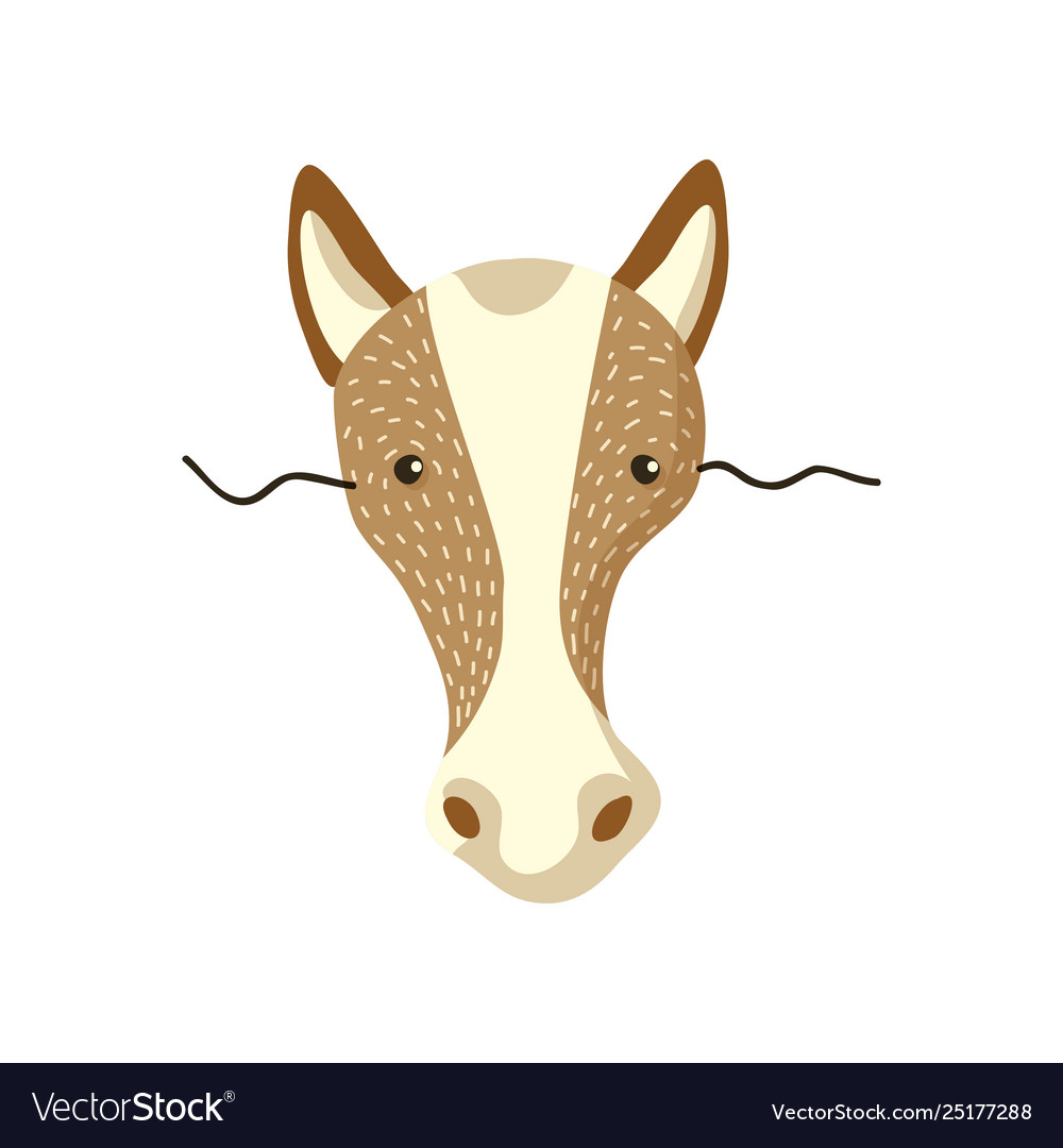 Cute horse mask on face.