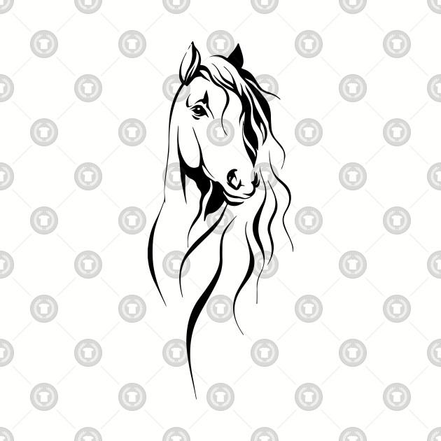 Cute Horse Face.