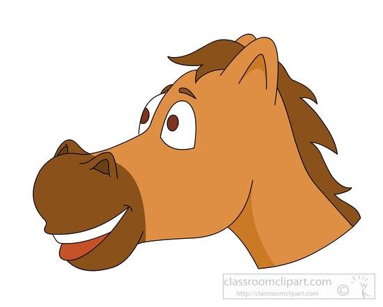 Horse face clip art.