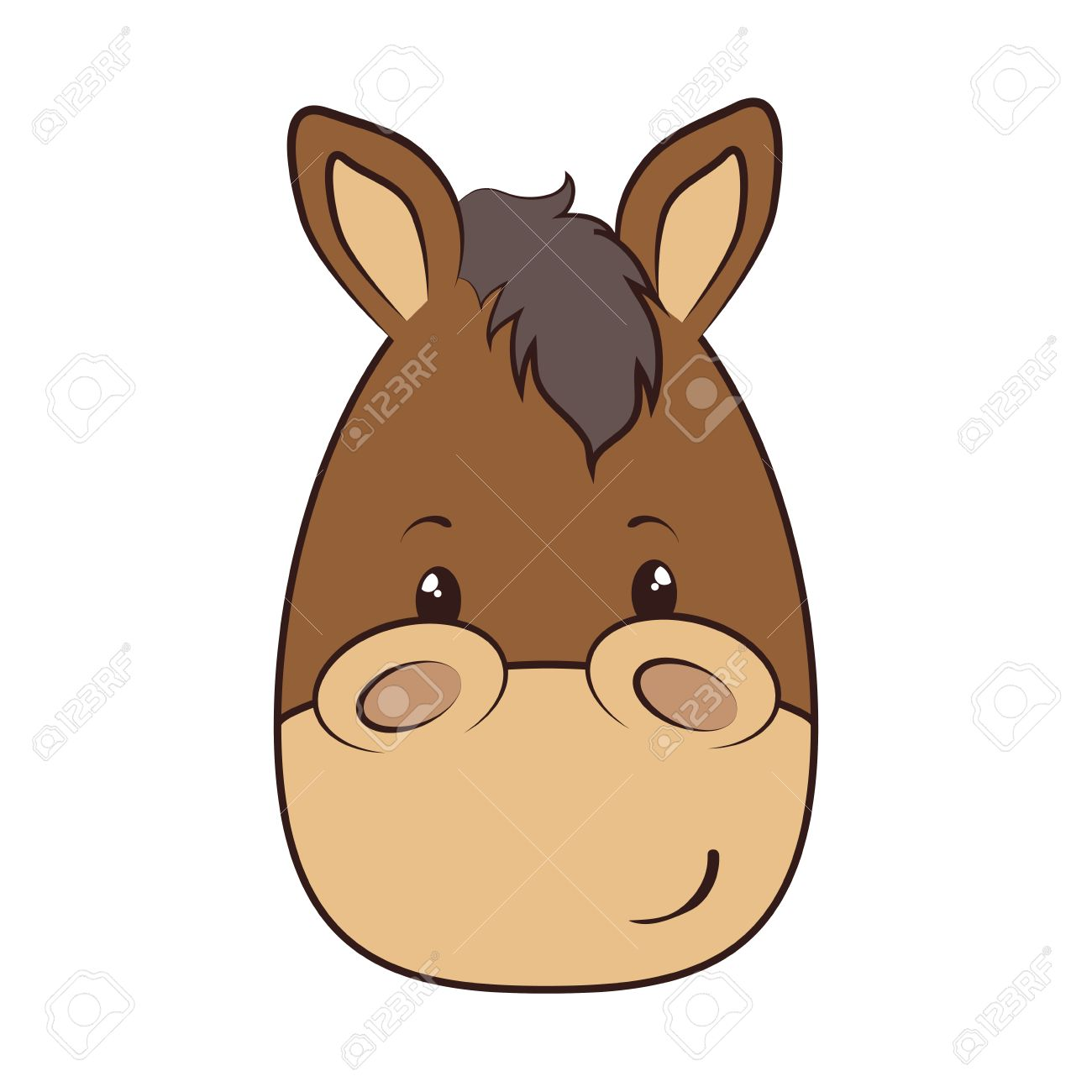 Horse Face Clipart.