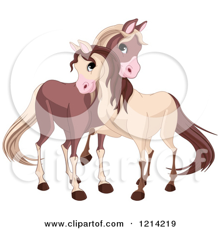 Cute Horses On Clipart.