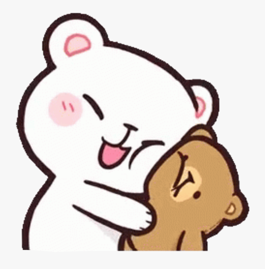 milkandmocha #hug #cute #bears #happy #kawaii #freetoedit.