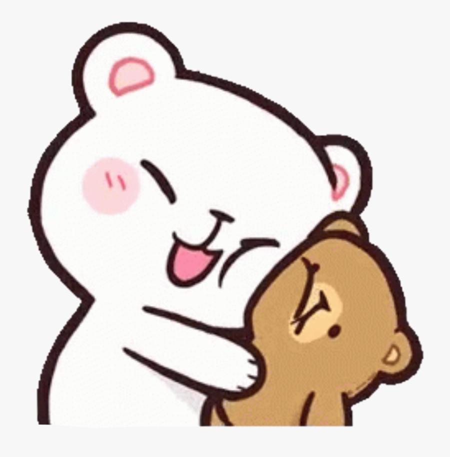 milkandmocha #hug #cute #bears #happy #kawaii #freetoedit.