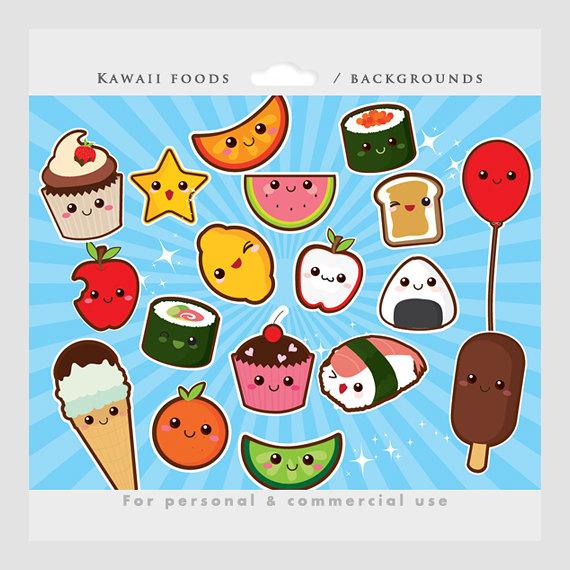 Cute food clipart.