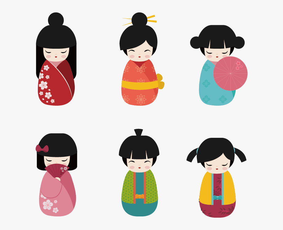 Cartoon Kokeshi Japanese Dolls Hq Image Free Png Clipart.
