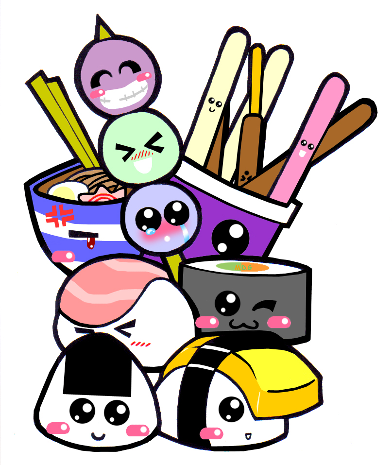 Japanese foods wallpaper :. by Chazx3 on Clipart library.