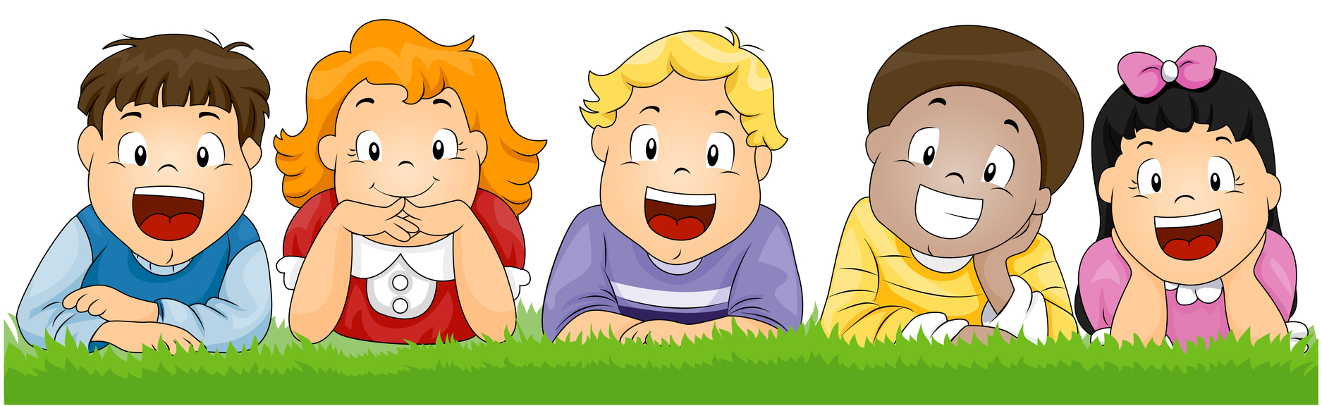 Cute kids clip art.
