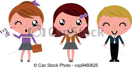 Cute school kid clipart.