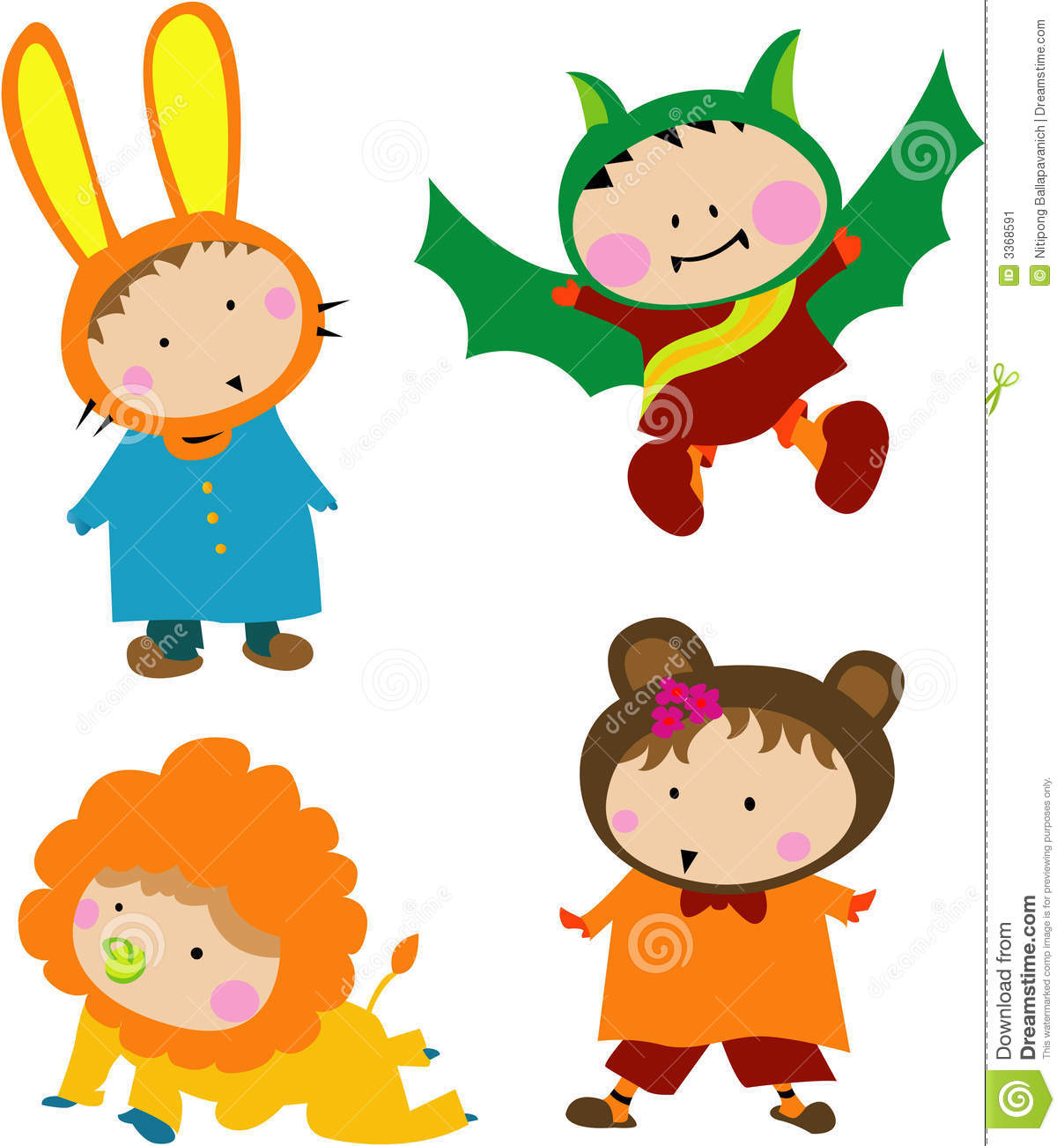 Cute kid clip art.