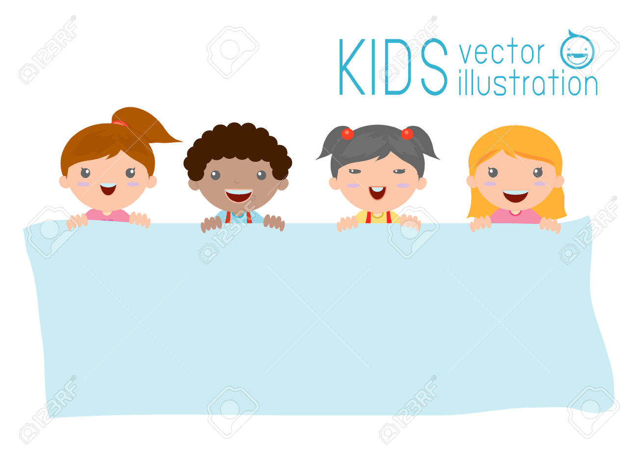 Cute Kids Peeking Around Corner Clipart.
