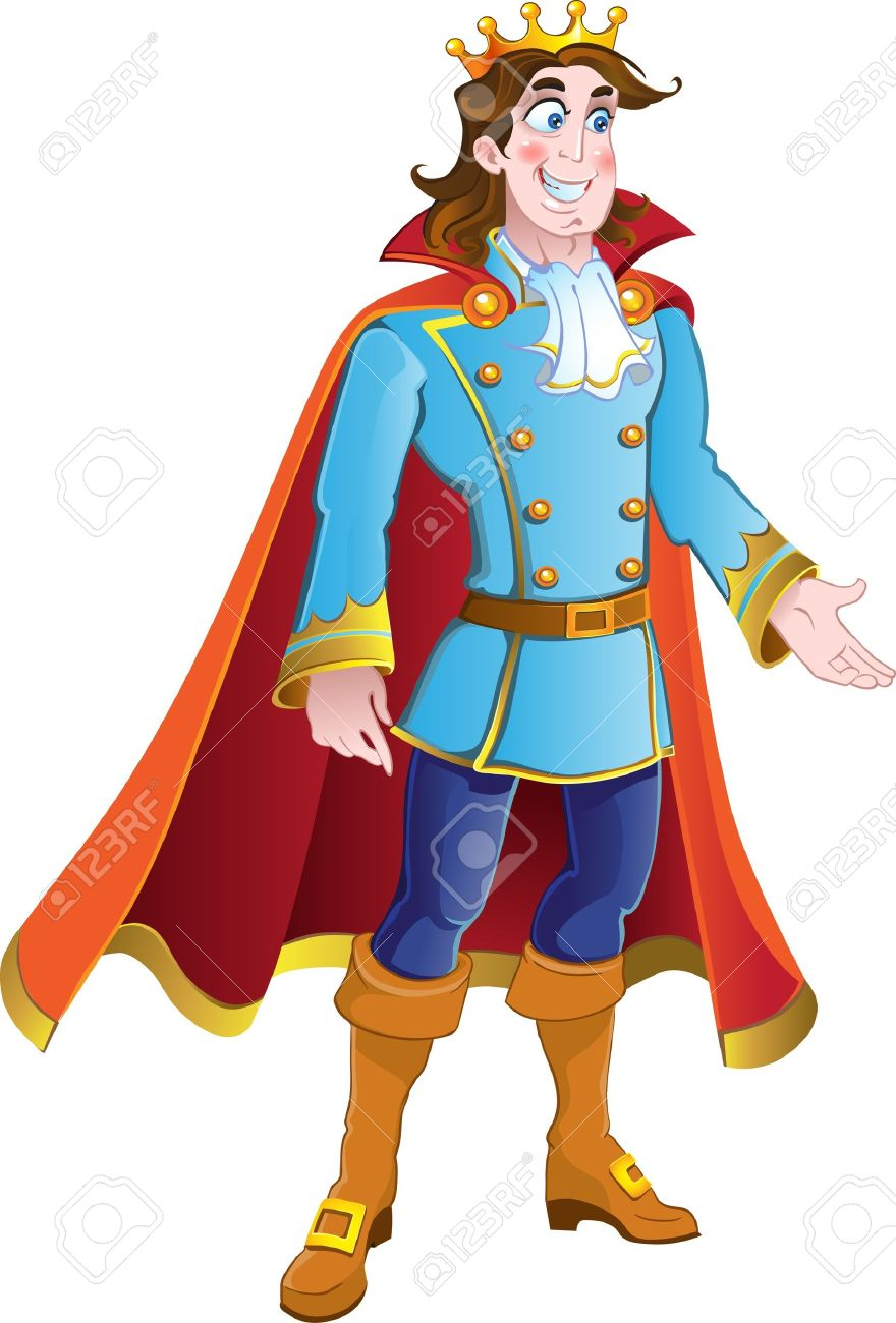 Handsome King Clipart.