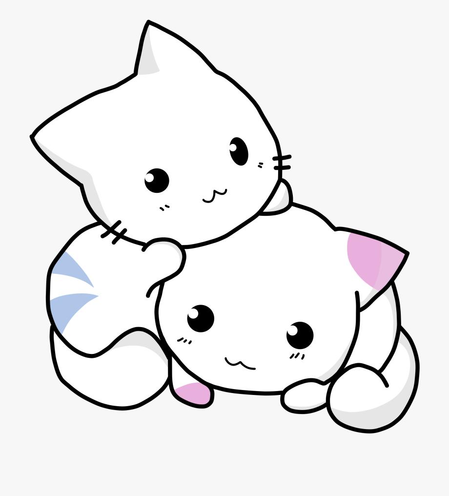 Cute Kitten Clipart Transparent Collection.