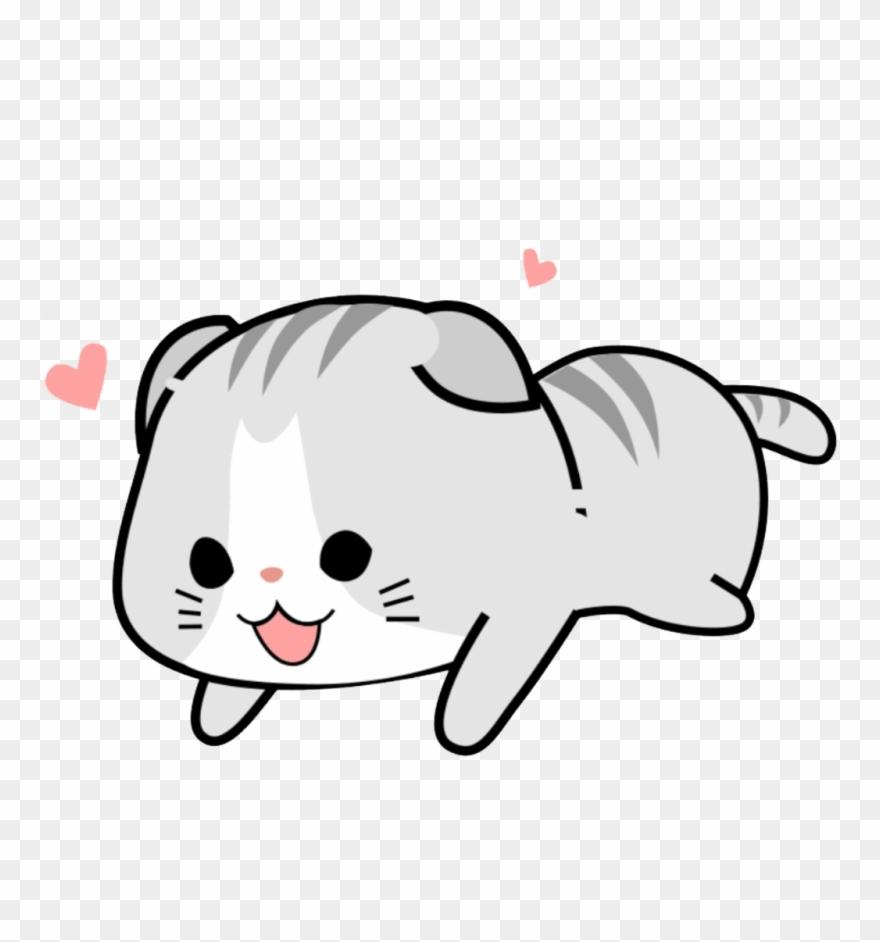 Sticker Kawaii Cute Pink Soft Cat.