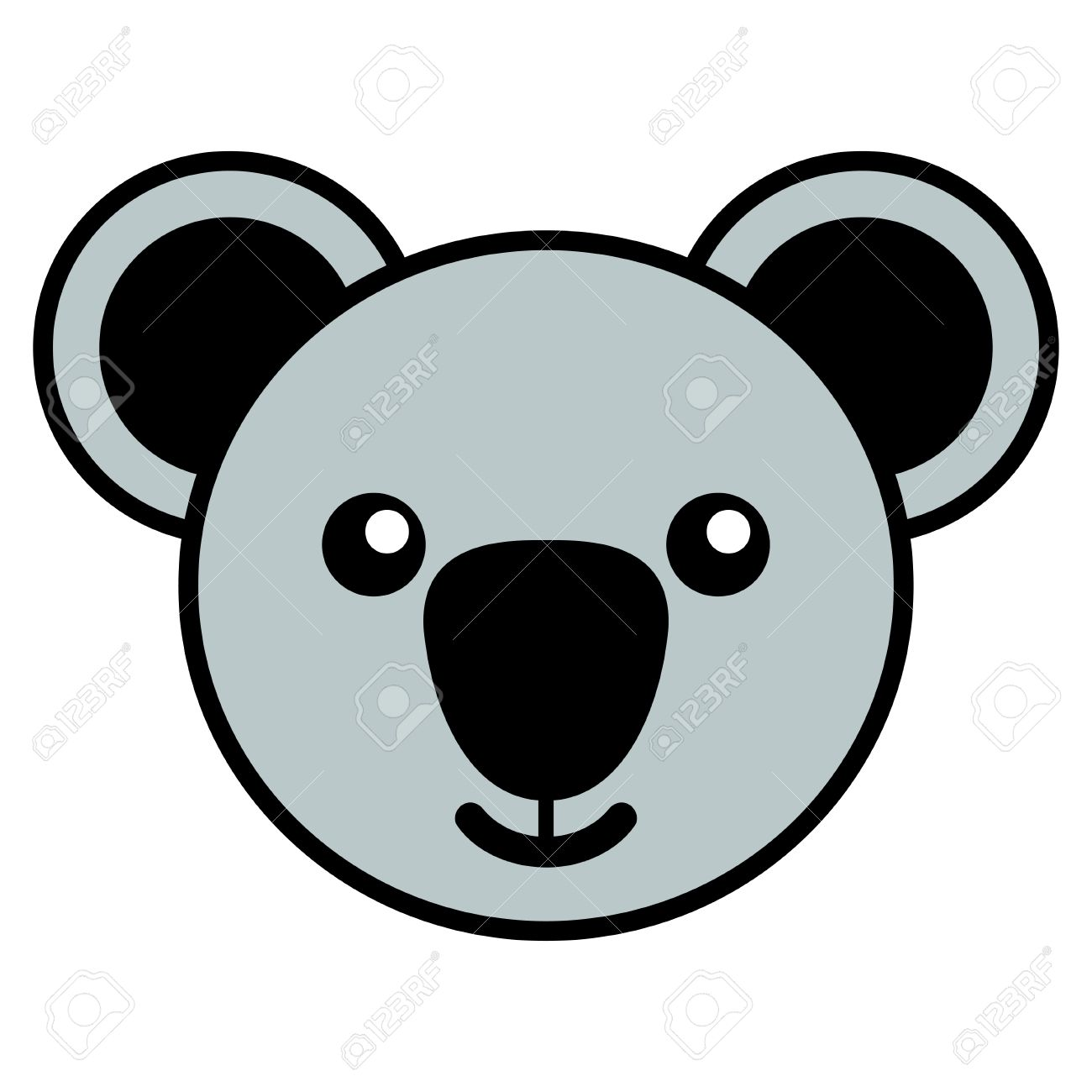 Simple cartoon of a cute koala.