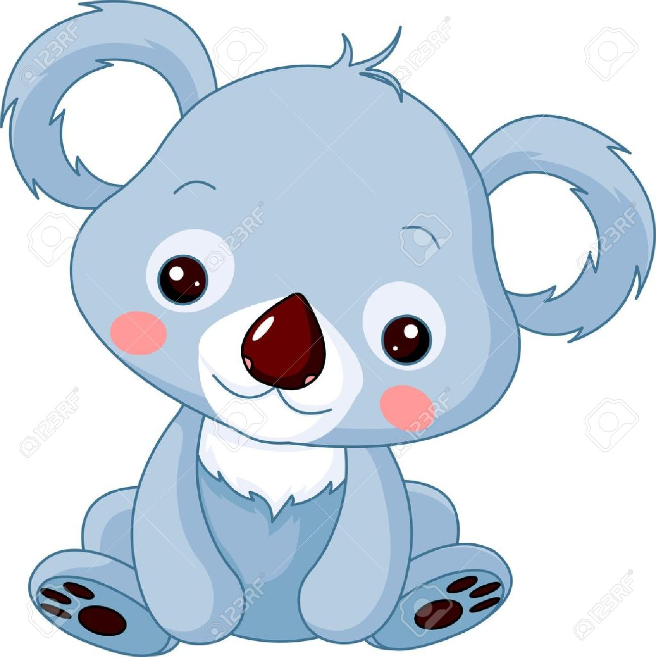 Fun zoo. Illustration of cute Koala Bear.