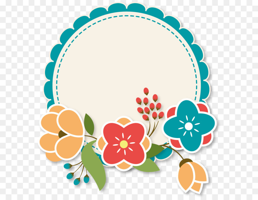 Download Free png Paper Flower Label Blossom Cute Flower Label png.