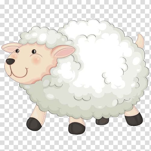 Cattle , cute lamb transparent background PNG clipart.