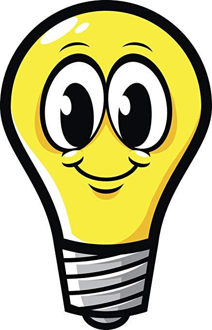 Amazon.com: Cute Happy Yellow Light Bulb Emoji Cartoon Vinyl.