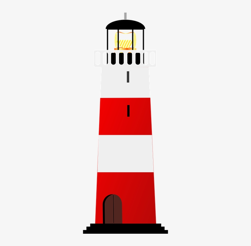 Lighthouse clipart red and white, Lighthouse red and white.