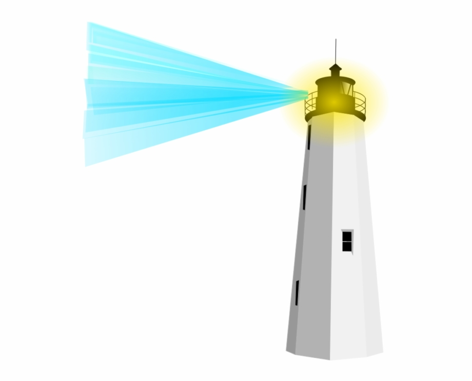 Free Cute Lighthouse Clipart Image.