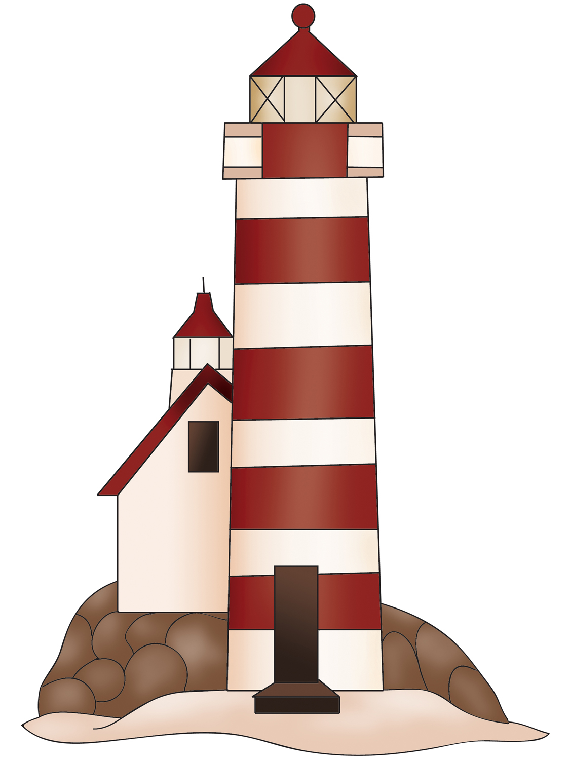 Building Clipart Cute Lighthouse Clipart Gallery ~ Free.