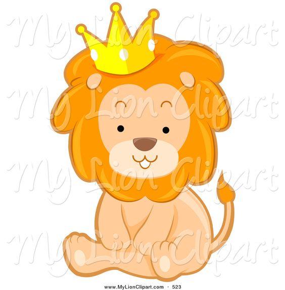 Cute Lion Clip Art.