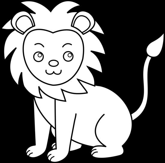 16091 Lion free clipart.