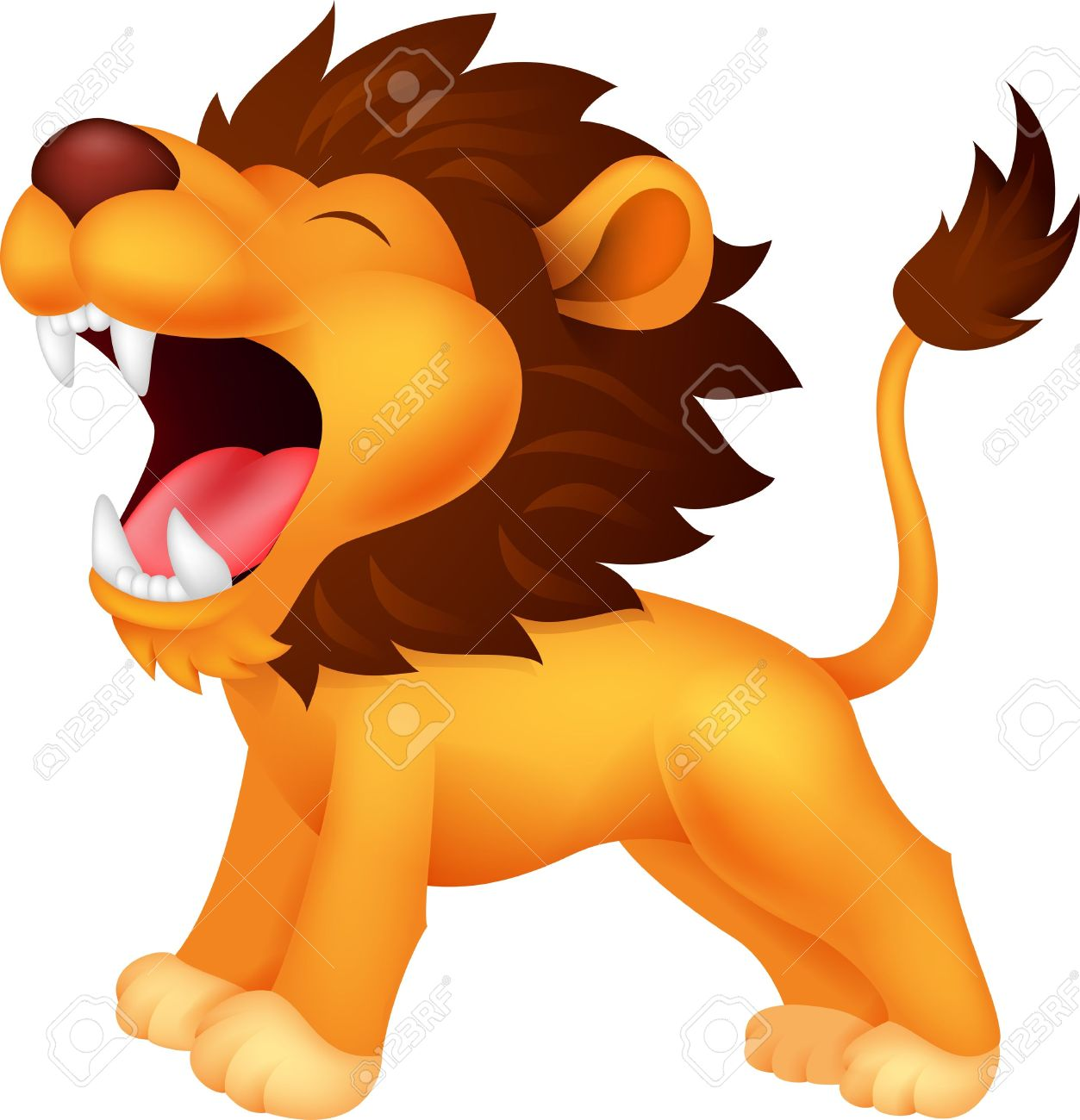 Cute Roaring Lion Clipart.