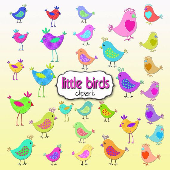 Bird Clipart 30 Cute Little Birds Clipart by TheArtBoxDesigns, $5.00.