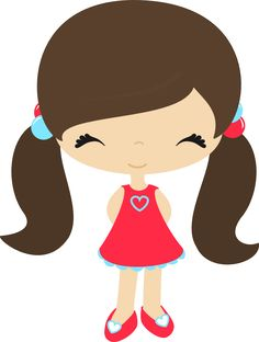 Cute Little Girl Clipart.