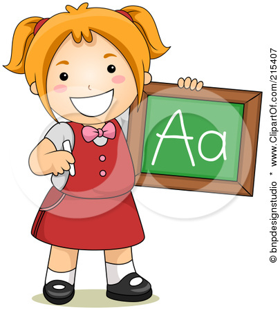 Little School Girl Clipart.